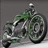 Green speed motorcycle puzzle